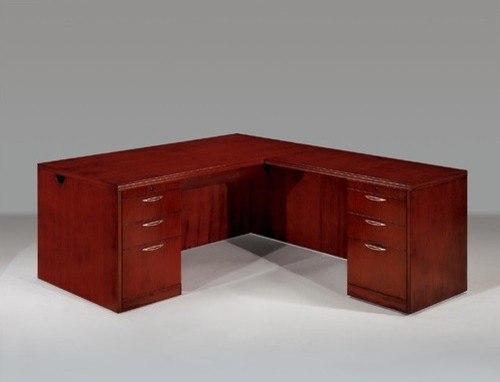 Summit Reed Right L-Shape Executive Desk (Flat Pack) - Modern - Home Office Accessories