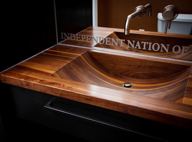 wooden bathroom sink 1