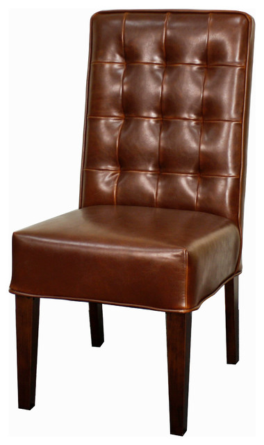 Texas Leather Chair Sienna Set Of 2 Traditional Dining Chairs By New