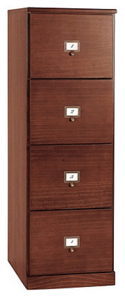 Original Home Office Tall 4-Drawer File Cabinet - Traditional - Filing Cabinets - by Ballard Designs