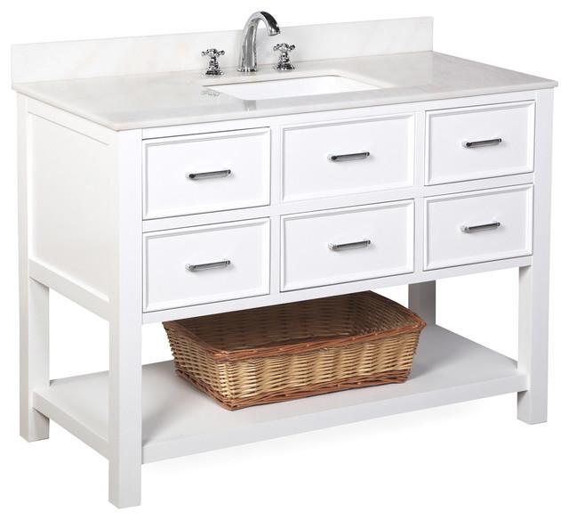 New Hampshire Bath Vanity White and White 48