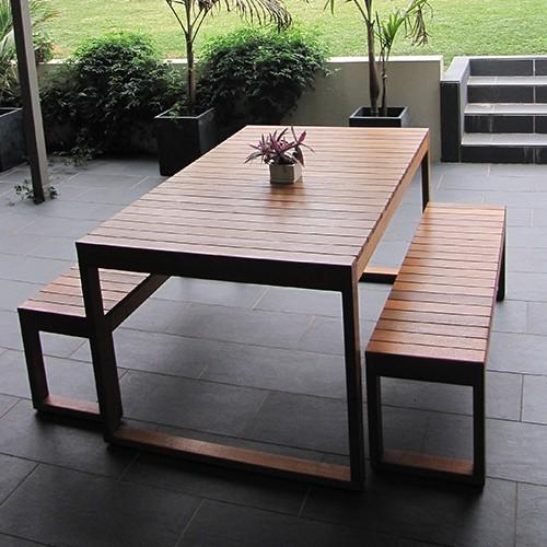 Hayman 6 Seater Outdoor Australian Hardwood Set Slimline