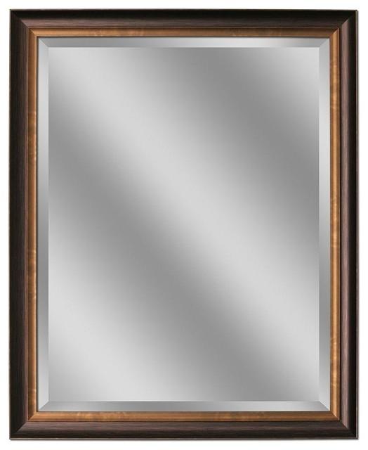 Deco Mirror Mirrors 40 In L X 28 In W Framed Wall Mirror In Oil Rubbed Bronze Contemporary