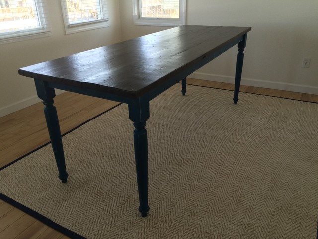 8ft pub style farm table beach style dining tables for Upcycled dining table