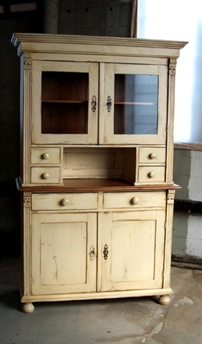 old pine china cabinet 1