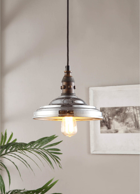 Vintage Farmhouse 1 Light Chrome Pendant