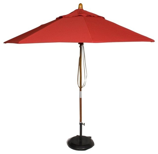 Market Patio Umbrella in Jockey Red Contemporary