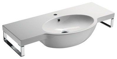Wall Mount Sink No Faucet Hole : ... Wall Mounted Ceramic Sink, No Faucet Holes contemporary-bathroom-sinks