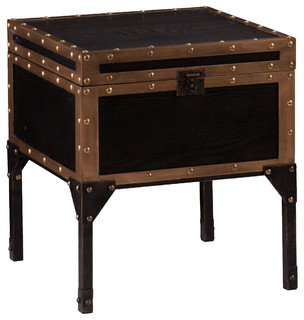 Upton Home Duncan Travel Trunk Side End Table Contemporary Side Tables End Tables By