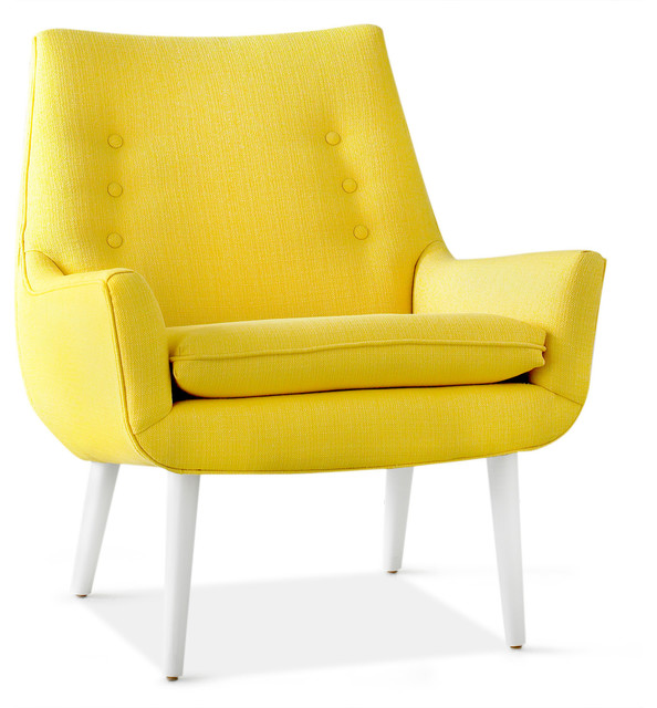Mrs. Godfrey Chair, Stockholm Canary - Modern - Armchairs And Accent Chairs - by Jonathan Adler