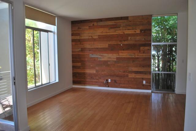 Custom Reclaimed Wood Accent Wall Rustic San Diego