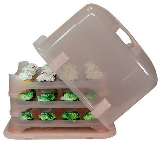 Cupcake Courier, Pink - Contemporary - Food And Beverage Carriers - by Cupcake courier