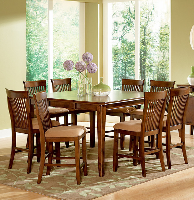 piece counter height set w leaf contemporary dining table sets