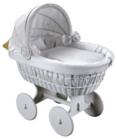 Topas large wheels bassinet modern cribs by the baby for Baby bed with wheels