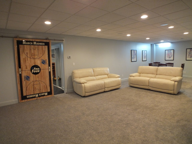 Finished Basement 2014 Modern Cleveland By Otero