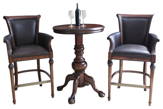 American Heritage Lothorio 3 Piece Pub Table Set w  : traditional indoor pub and bistro sets from www.houzz.com size 640 x 426 jpeg 58kB