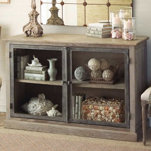 Marseille Glass Front Cabinet Traditional By Rsh