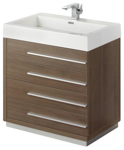 30 inch gray oak modern bathroom vanity contemporary bathroom vanities