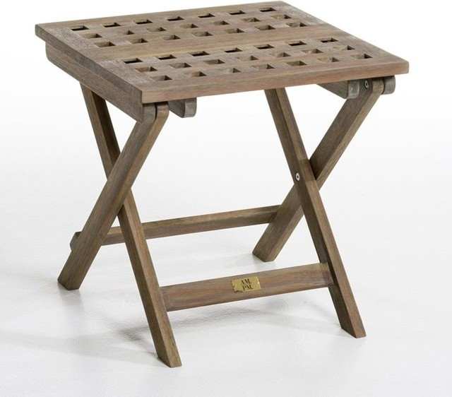 Table d 39 appoint pliante meltem contemporain table de jardin par am pm - Table de jardin contemporaine ...