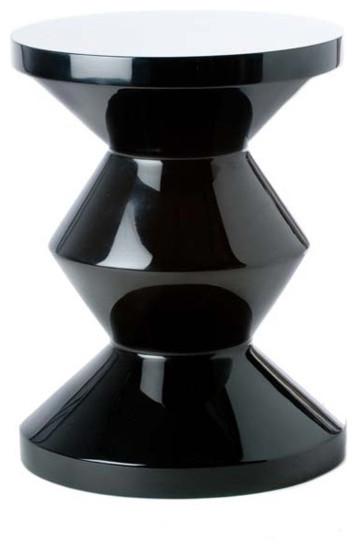 hocker zig zag schwarz pols potten contempor neo escabeles y otomanas de haus tempel. Black Bedroom Furniture Sets. Home Design Ideas