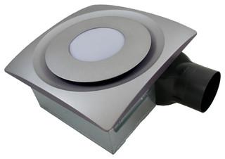 Aero Pure Slim Fit Bathroom Fan With LED Light, Satin Nickel, 120 Cfm ...