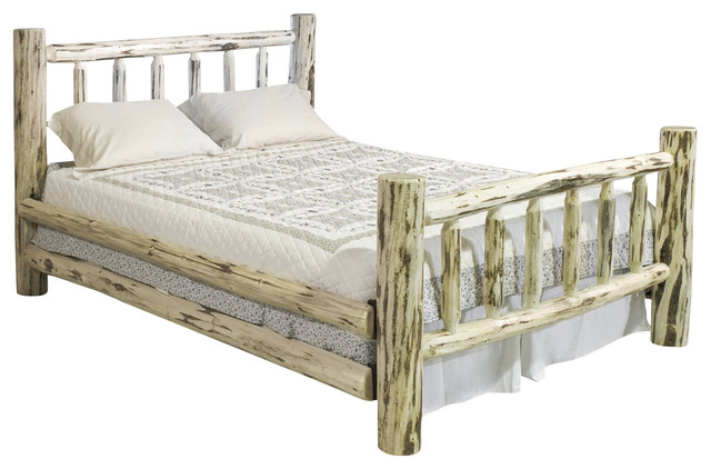 Montana Woodworks Log Bed In Clear Lacquer Rustic Beds By Beyond
