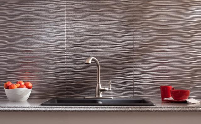 fasade waves galvanized steel modern home decor