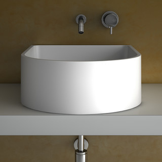 Unique Counter Top Bathroom Sink Hidden Sink Hole White