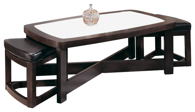 Homelegance Brussel Rectangular Cocktail Table With 2