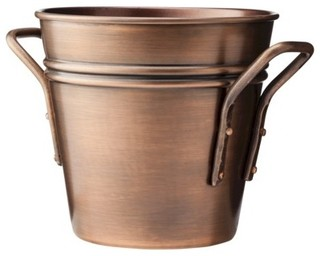 smith hawken round copper planter traditional indoor pots planters by target. Black Bedroom Furniture Sets. Home Design Ideas
