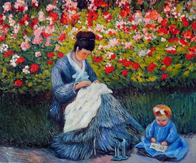 Monet Quot Camille Monet And A Child In The Artist S Garden In