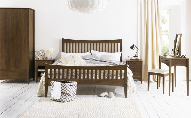 Alba Walnut Bedroom Set Contemporary Bedroom Furniture Sets South West By Oak Furniture
