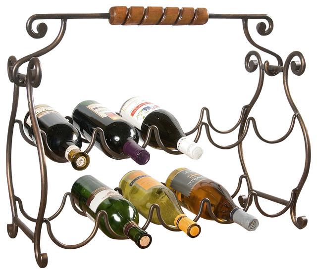 "Metalworks 22 1/4"" Wine Rack - Traditional - Wine Racks"