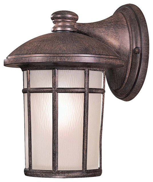 The Great Outdoors Cranston Rust Outdoor Wall Sconce - Rustic - Outdoor Wall Lights And Sconces ...