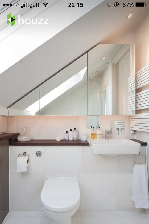 Bathroom Ideas Sloping Roof : Sloped roof to flat