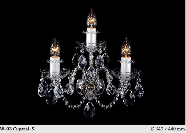 Bohemian crystal tripple wall sconce - Modern - Chandeliers - hobart - by Murano Art Glass Australia