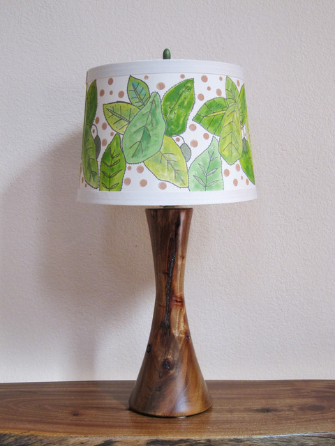 Wood Turned Lamp - Rustic - Table Lamps - san diego - by ...