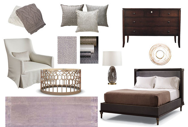 Get The Look A Muted Purple Palette Laced With Creative Elegance Transitional New York By