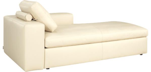 cyrus m ridienne convertible avec accoudoir r versible en cuir moderne canap lit. Black Bedroom Furniture Sets. Home Design Ideas