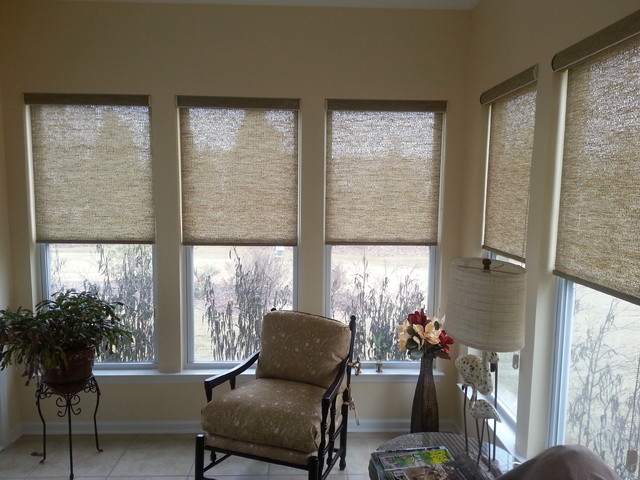 Sunroom beach style window treatments charleston for Styles of window blinds
