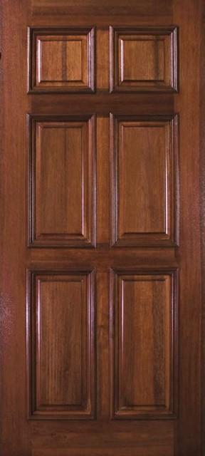 Pre Hung Home Single Door 80 Wood Mahogany 6 Panel Solid