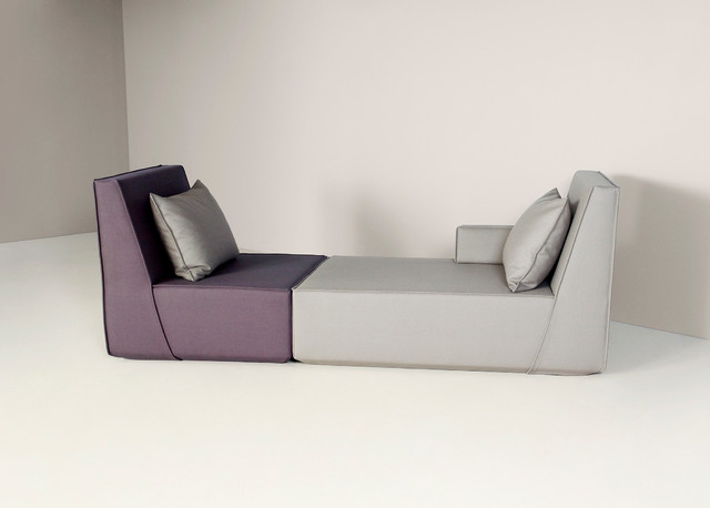 A charming chaise longue with asymmetrical segmentation for Chaise longue northern ireland