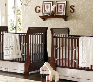 Sleigh Fixed Gate Crib Traditional Cribs By Pottery