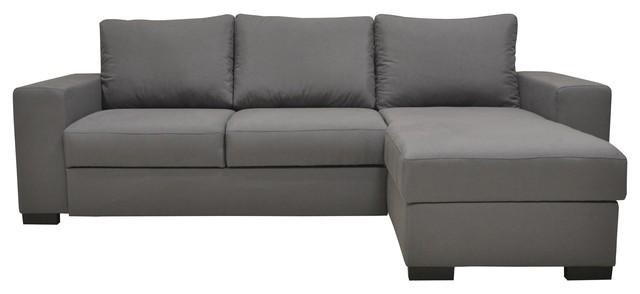 rosy canap d 39 angle r versible convertible avec coffre gris contemporain canap lit. Black Bedroom Furniture Sets. Home Design Ideas