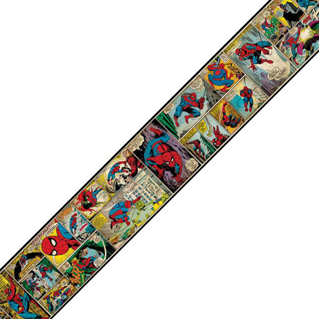 Marvel Spiderman Comic Prepasted Wall Border  : contemporary wallpaper from www.houzz.com size 640 x 640 jpeg 110kB