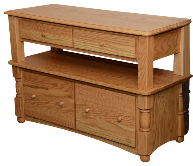 ... Two Tier Solid Oak Lateral Filing Cabinet traditional-filing-cabinets