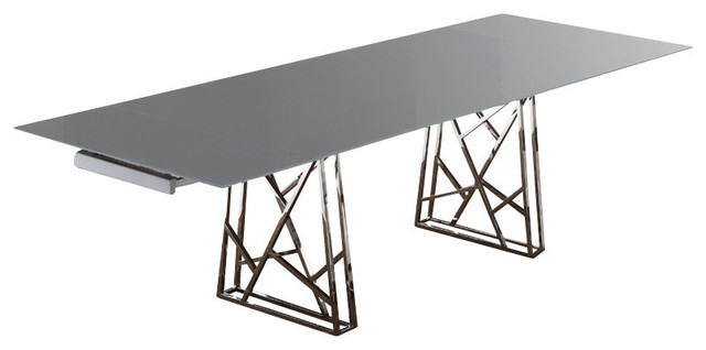borg dining table base with white glass top modern dining tables