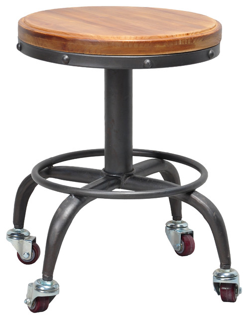 ... Adjustable Stool With Wheels By Gary Stool Industrial Office Chairs By  Pangea ...