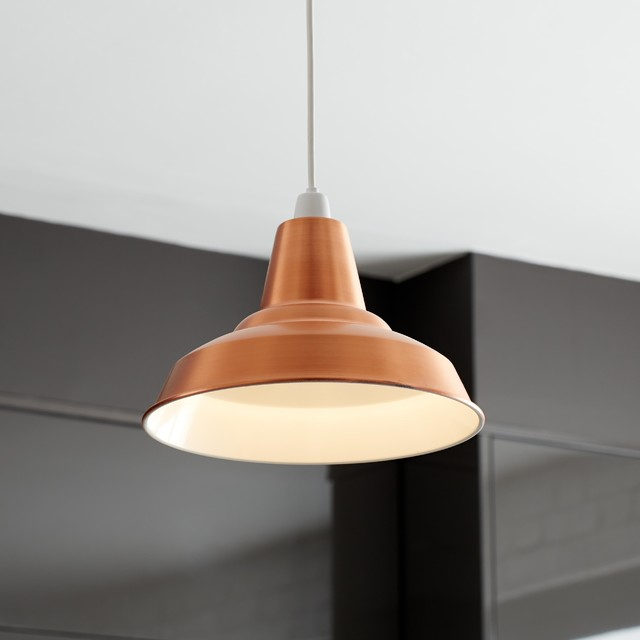 Colours Tezz Brushed Copper Effect Light Shade