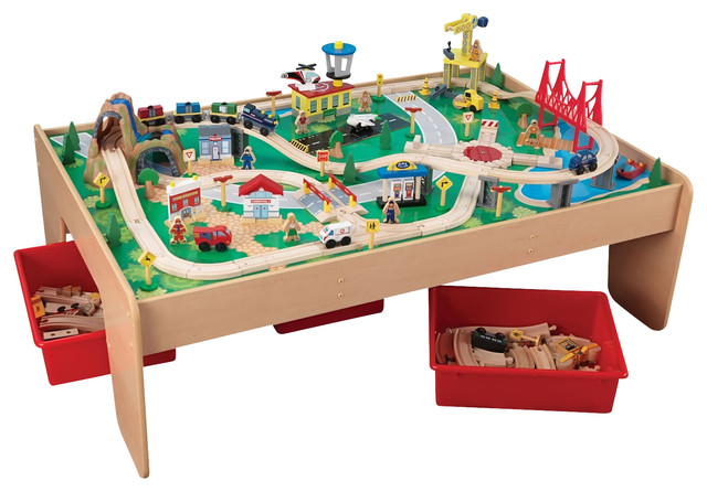 Kidkraft Kids Playroom Waterfall Mountain Train Set And Table - Contemporary - Kids Toys And ...